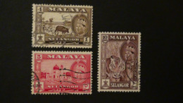 Malaysia - Selangor - 1961/62 - Mi:MY-SE 92,93,95 - Yt:MY-SE 81,82,84 O - Look Scan - Selangor