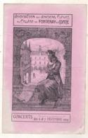 Association Des Anciens Elèves Du Collège De Fontenay Le Comte  Concerts Des 6 Et 7 Décembre 1924 - Programs