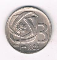 3 KORUN 1968  TSJECHOSLOWAKIJE /8163/ - Czechoslovakia