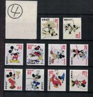 Japan 2018.08.08 Greetings, Disney (used)④ - 1989-... Empereur Akihito (Ere Heisei)