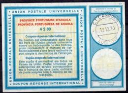 ANGOLA Vi19 4$00 Cupao-resposta InternationalReply Coupon Reponse AntwortscheinIAS IRC O LOBITO 12.12.70 - Angola