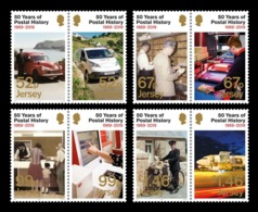 Jersey 2019 Mih. 2346/53 Jersey Postal History. Automobiles. Bicycle. Plane MNH ** - Jersey