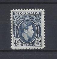 NIGERIA.....KING GEORGE VI.(1936-52)....4d.....SG54a..........MH... - Nigeria (...-1960)