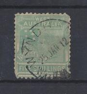 """AUSTRALIA..."""" WEST  AUSTRALIA..""""....QUEEN VICTORIA.(1837-01).....5/-.....CDS......USED..... - Oblitérés"""