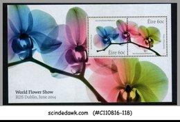 IRELAND - 2014 WORLD FLOWER SHOW, RDS DUBLIN- FLOWERS - MIN. SHEET  MNH - Flora