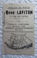 Buvard  Atelier De Photo René LAFITON à Poitiers (Vienne) - Vloeipapier