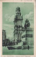 POSTAL DE MONTEVIDEO DEL MONUMENTO ARTIGAS Y PALACIO SALVO DEL AÑO 1931 (M. ROMANO) URUGUAY - Uruguay