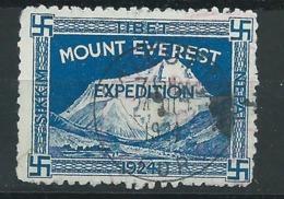 3184 - Timbre Vignette Mount Everest 1924 Tibet - Calcutta 1924 Expedetion Svastika - Erinnofilia