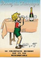 CP - Publicité - Le Champagne HENRIOT -est Un Vin Remarquable. (Artiste - Georges Redon (1869-1943).r - Pubblicitari