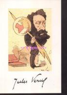 REF 440 : CPM Jules Verne Caricature - Writers