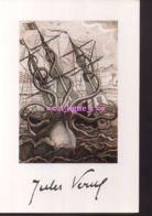 REF 440 : CPM Jules Verne Octopus Pieuvre Kraken - Ecrivains