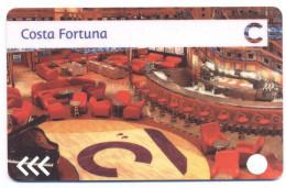 ITALY - COSTA - FORTUNA - CRUISE CABIN KEY CARD - 3 FRECCE - Cerchio Bianco - Hotelkarten