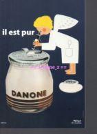 REF 440 : CPM Reproduction DANONE Par Oleg Zinger Illustrateur Il Est Pur - Pubblicitari