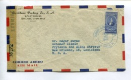 COSTA RICA COMMERCIAL COVER - CIRCULATED FROM SAN JOSE TO NEW ORLEANS, LOUISIANA, U.S.A.. YEAR 1944, AIR MAIL -LILHU - Costa Rica