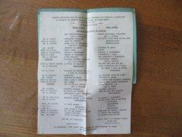 16 JANVIER 1949 MATINEE RECREATIVE DONNEE PAR LA FANFARE COMMUNALE DE ROMBIES & MARCHIPONT PROGRAMME - Programmes