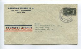 COSTA RICA COMMERCIAL COVER - CIRCULATED FROM PUNTARENAS TO NEW ORLEANS, LOUISIANA, U.S.A.. YEAR 1945, AIR MAIL -LILHU - Costa Rica