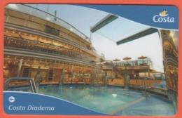 ITALY - COSTA - DIADEMA - CRUISE CABIN KEY CARD - Fiorentino Restaurant - Cartes D'hotel