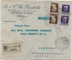 Imperiale Cent. 10 Coppia + Cent. 50 Coppia Su Busta G. & C. F.lli Rambaldi Con Annullo Bologna Rione Bolognin 24.4.1930 - 1900-44 Vittorio Emanuele III