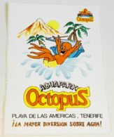 Ancien Autocollant - Aquapark Octopus, Plage De Las Americas, Tenerife - Aufkleber