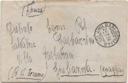 Imperiale Cent. 25 X 2 Su Busta Con Annullo Ambulante Bari Roma 02.07.1938 E Giulianova Spiaggia (Teramo) - 1900-44 Vittorio Emanuele III