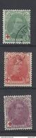 Nr 129-31 Gestempeld - 1914-1915 Croix-Rouge