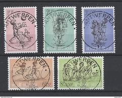 Nr 1399-403 Centraal Gestempeld Antwerpen - Marcophilie