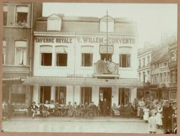 C1900 - Photo 22,5 Cm X 16,5 Cm - LIEGE 2 Boulevard D'Avroy -TAVERNE ROYALE V. WILLEM-CONVENTS - SUPERBE !! - Places