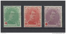 Nr 129-31 ** - 1914-1915 Croix-Rouge