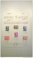 Herdenkingsblad Met Zegel Nr 532-37 - Souvenir Cards