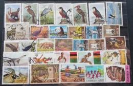 Zambia MIXED LOT USED POSTAGE FEE EXTRA - Zambia (1965-...)