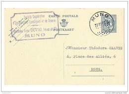 Postkaart Met Stempel Muno - Entiers Postaux