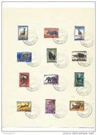 Nr 350-61 Gestempeld - 1947-60: Oblitérés