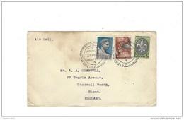 Omslag Air Mail Met Stempel Bloemendaal  Vogelenzang Jambore Wereld - Poststempel