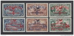 Nr LP17-19+LP19A-19C ** - Liberia