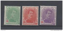 Nrs 129-31 ** - 1914-1915 Croix-Rouge