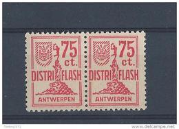 Doublet Lokaalzegels *  Uitleg Staat Op Scan Van Brief Die  Erbij Zat ( Klein Scharnierspoor) - Belgium