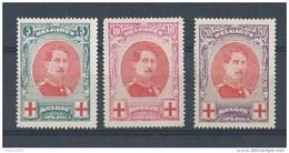 Nrs 132-34 * - 1914-1915 Croix-Rouge