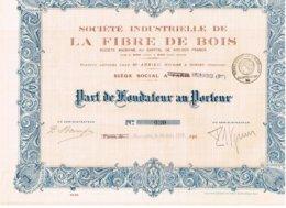 Titre Ancien - Société Industrielle De La Fibre De Bois - Société Anonyme - Titre De 1924 - Rare - Industrie