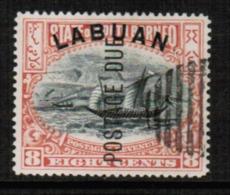NORTH BORNEO---Labuan  Scott # J 6 VF USED (Stamp Scan # 547) - North Borneo (...-1963)