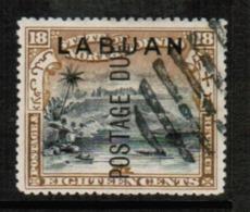 NORTH BORNEO---Labuan  Scott # J 8 VF USED (Stamp Scan # 547) - North Borneo (...-1963)