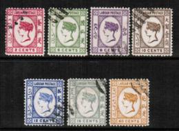 NORTH BORNEO---Labuan  Scott # 33-9 VF USED (Stamp Scan # 547) - North Borneo (...-1963)