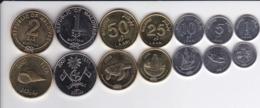 Maldives - Set 7 Coins 1 5 10 25 50 Laari 1 2 Rufiyaa 2007 - 2012 AUNC Lemberg-Zp - Maldiven