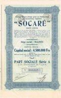 Titre Ancien - Société Franco-Belge Pour La Fabrication Du Caoutchouc Régénéré - Société Anonyme - Titre De 1929 - - Industrie