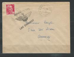 IZ-/-090--. GANDON, CONGRES F.A.M.M.A.C. - AEROMARITIME - LAC D'ANNECY, TTB, VOIR SCAN - Marcophilie (Lettres)