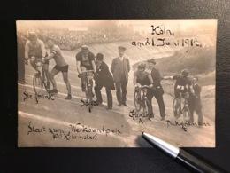 """Köln 1914 Stellbrink Saldow Günther Piet Dickentmann """"100 Km Wertbundpreis""""  Radfahrer  Radsport  Cycling - Cyclisme"""