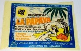 Ancien Autocollant - Station De Radio Espagnole - Le Goût Du Carnaval, La Papaya - Aufkleber