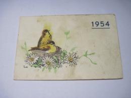 Calendrier Publicitaire Patissier Chocolatier LYON  1954 TBE - Petit Format : 1941-60