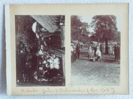 2 Photos Originales ACHANTIS Jardin D'acclimatation Mai 1903 Village AFRICAIN En Exposition à Paris - Anciennes (Av. 1900)