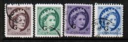 CANADA  Scott # O 40-4 VF USED (Stamp Scan # 547) - Overprinted