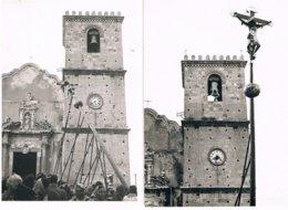 B3444 - Castroreale, Due Foto Mis.15x10.5, Particolare Della Processione Cristo Lungo, Foto Calì Anni 50 - Luoghi